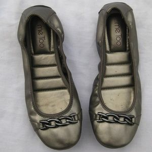 Me Too Lucky Ballet Flats Pewter Gray Chain Detail